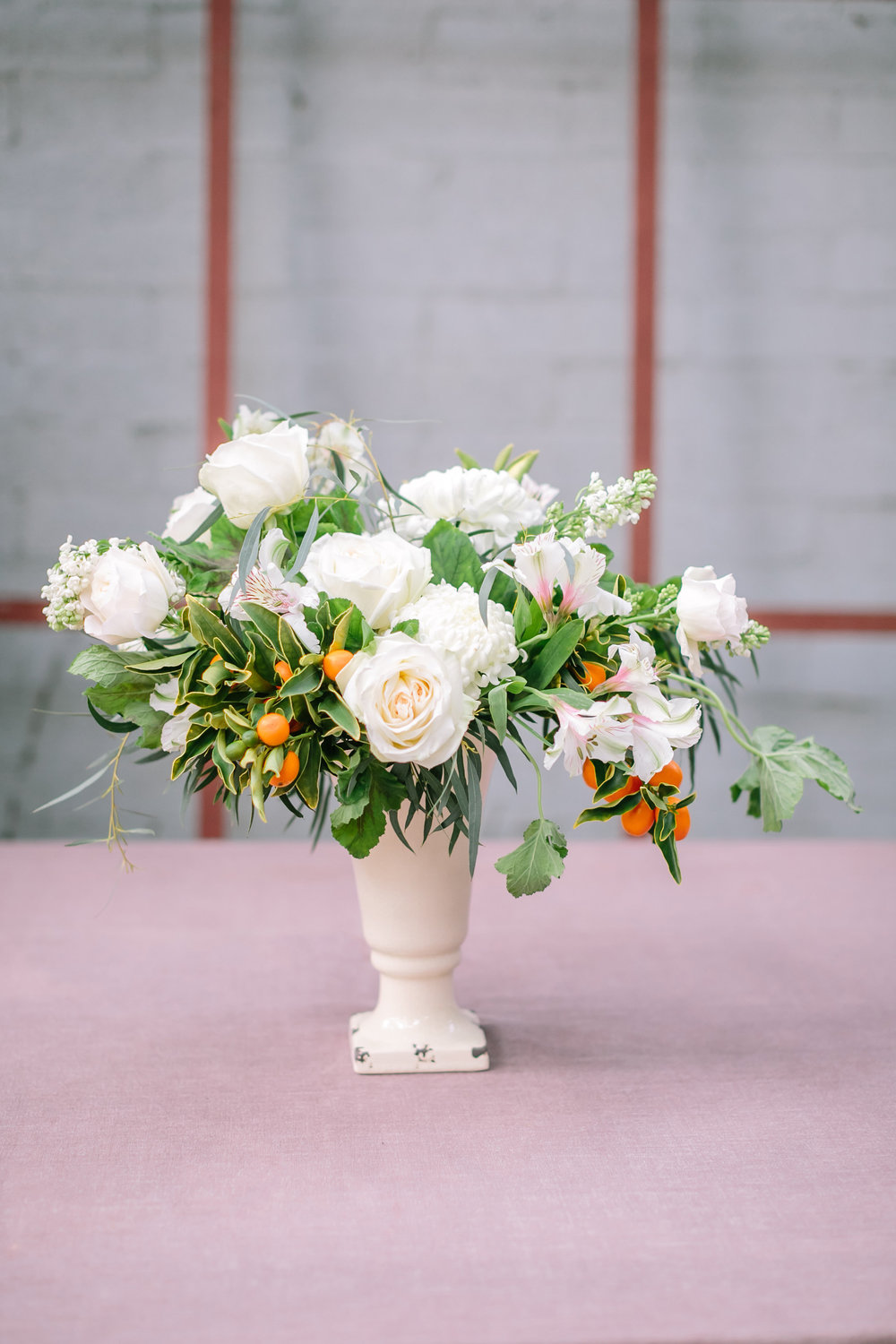 Easy DIY floral centerpiece with garden roses & kumquats from boxwoodavenue.com | Indu Huynh Photography