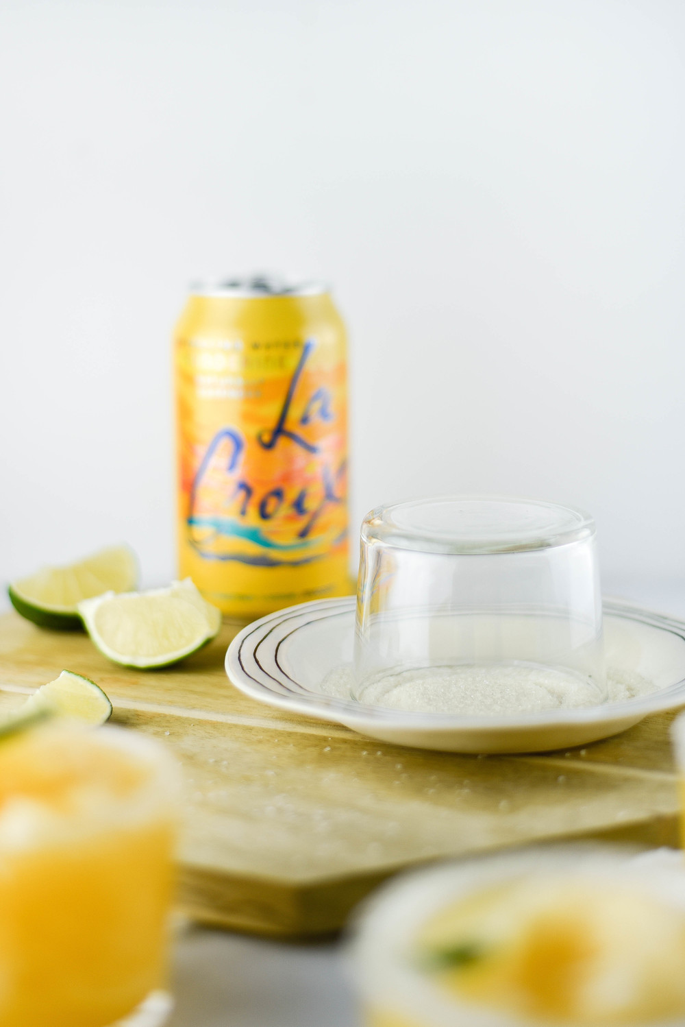 Blended Tangerine LaCroix drink recipe! | boxwoodavenue.com