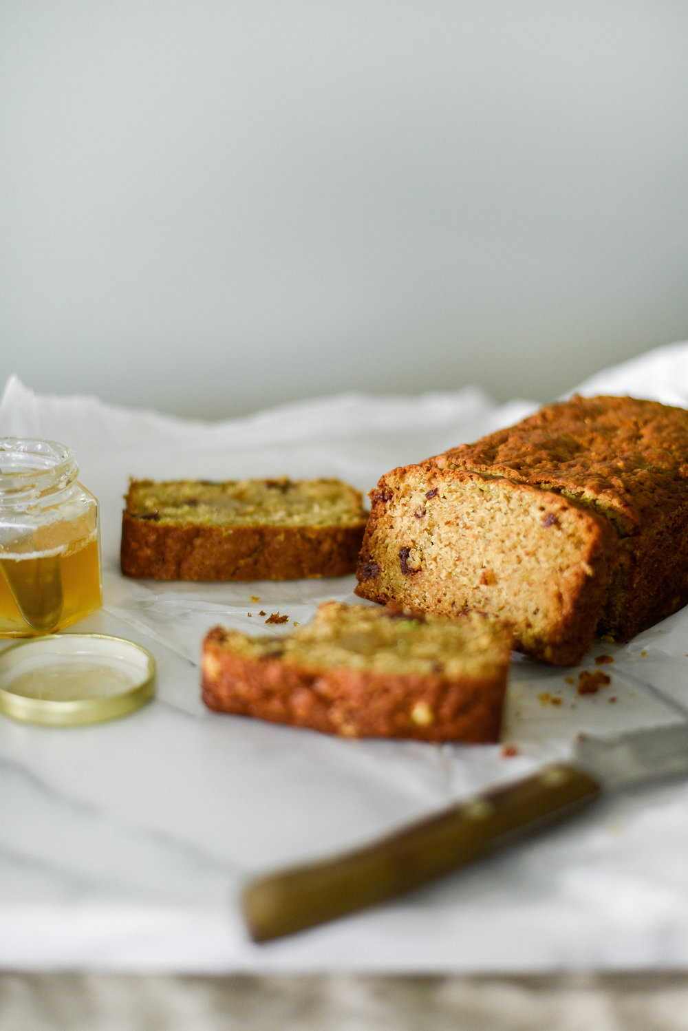 Nut Free Zucchini Bread with Cherries | boxwoodavenue.com