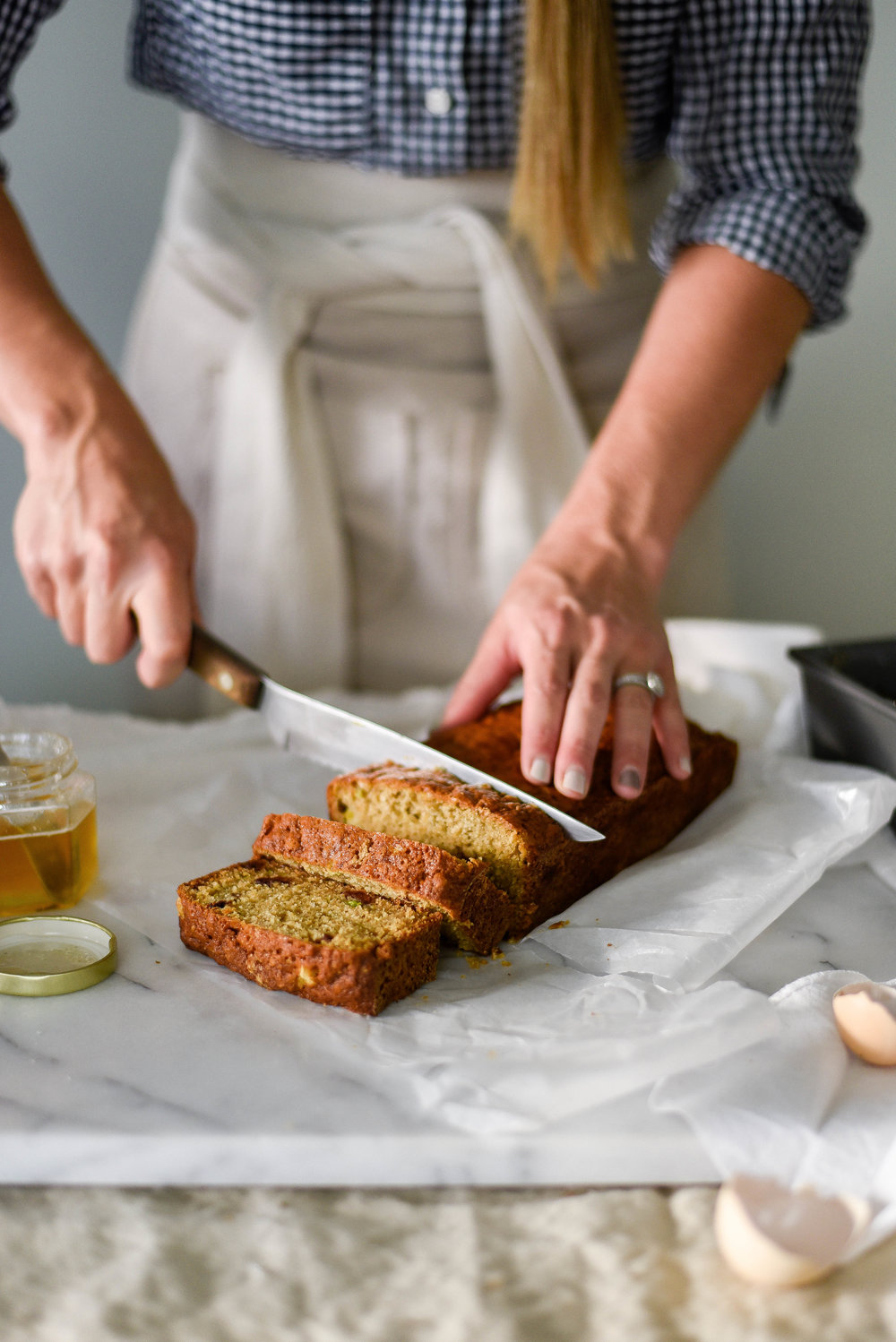 An easy nut free zucchini bread recipe with cherries | boxwoodavenue.com