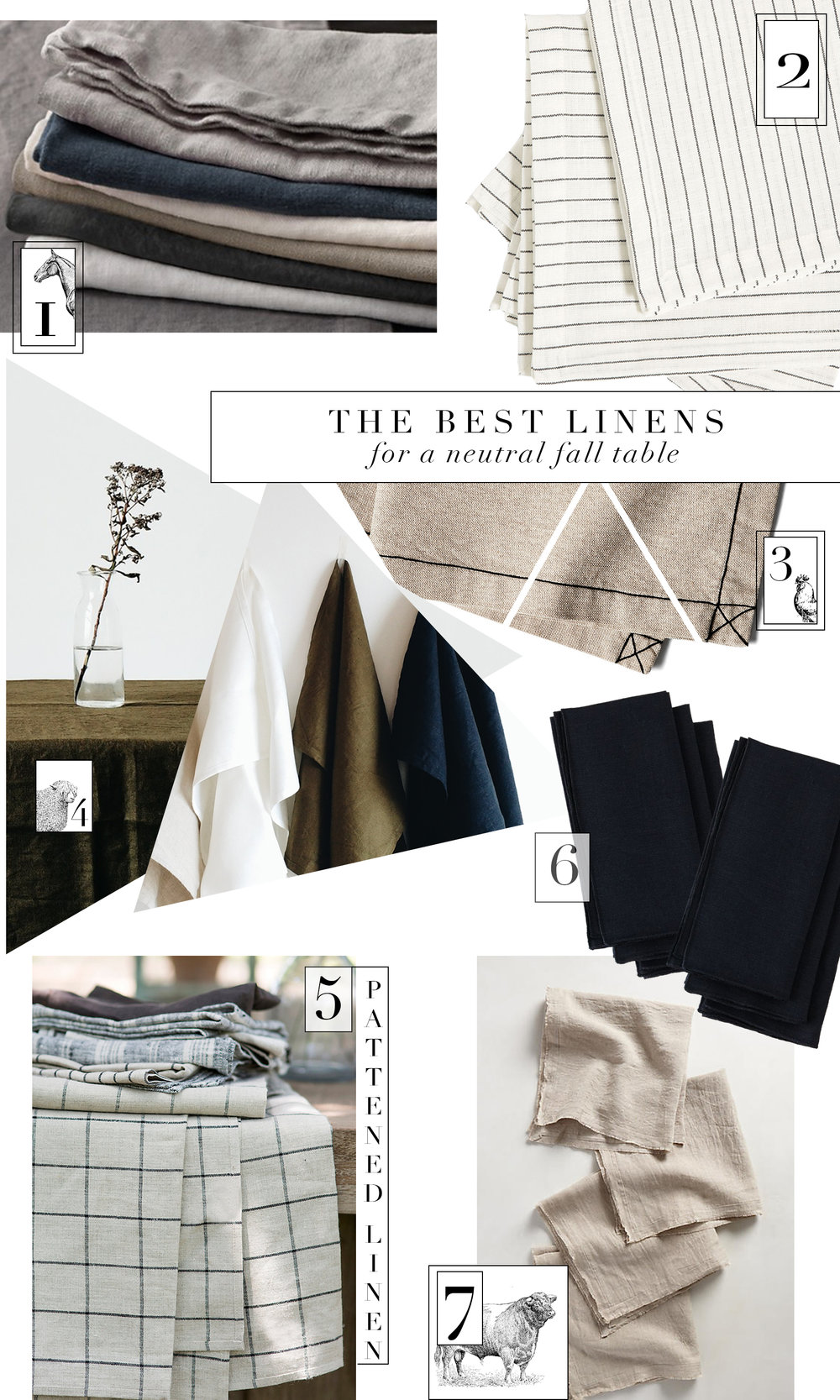 The best neutral table linens for winter & fall from boxwoodavenue.