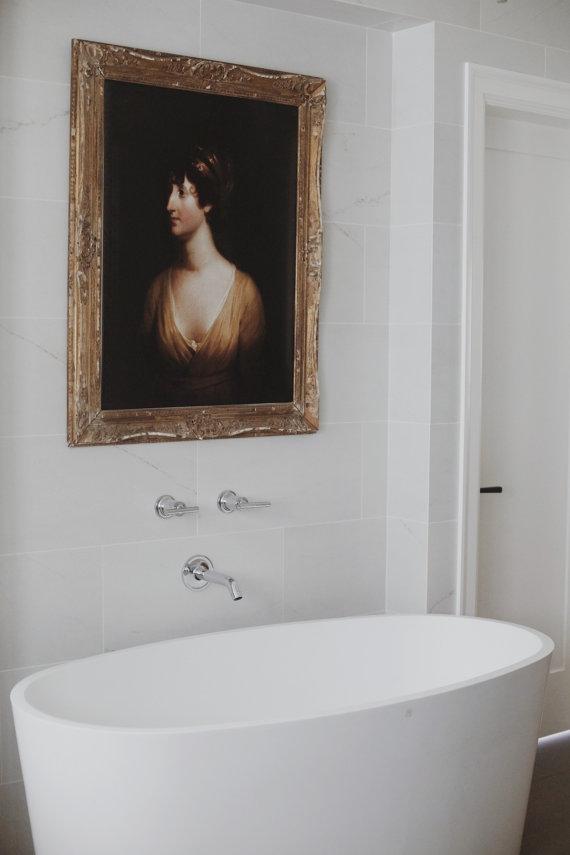 Fine art print in the bathroom | anewalldecor