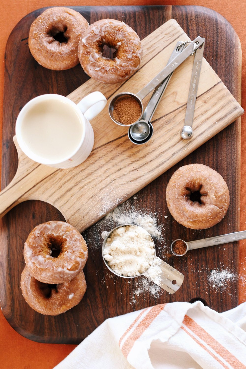Pumpkin Spice Doughnuts from Lauren Kelp