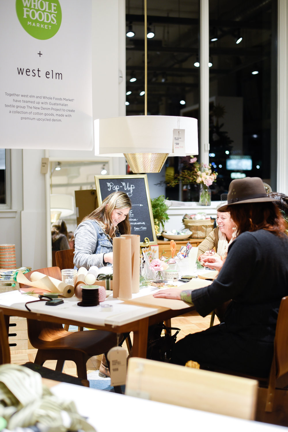 West Elm Reno Popup Workshop with Boxwood Avenue