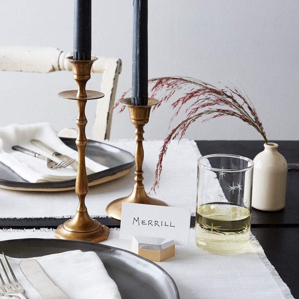 Hexagon Marble Placecard Holders from Esselle SF
