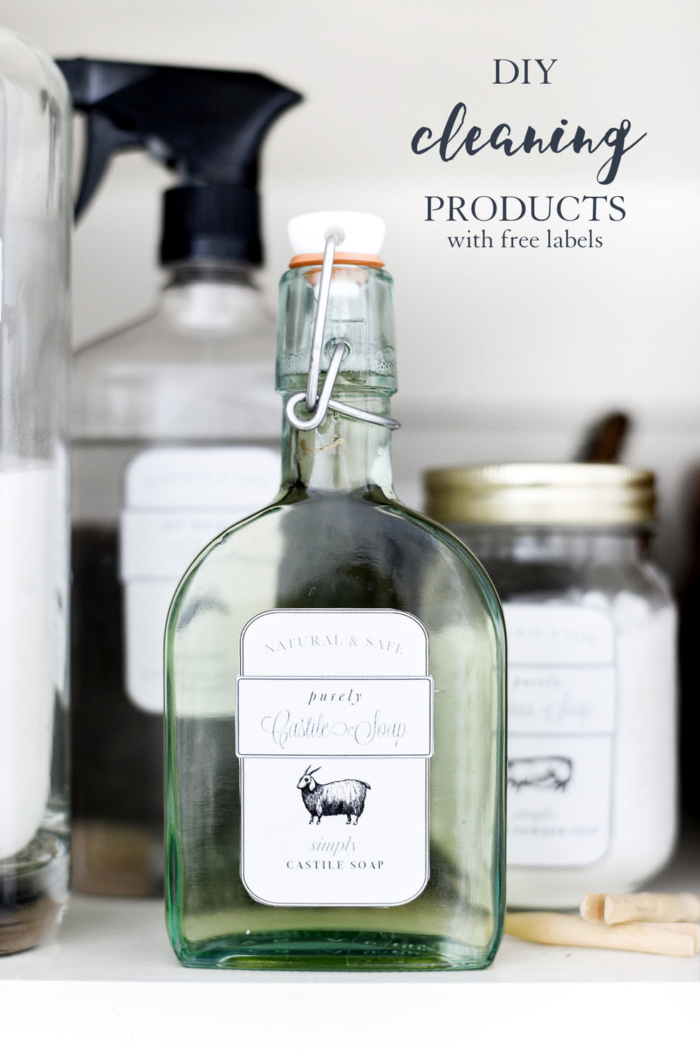 Free labels for DIY cleaning products from boxwoodavenue.com
