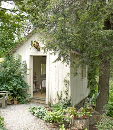 Who knew a storage shed could be so beautiful? | via Country Living