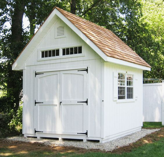 12 Great Ideas For A Modest Backyard: 12 Beautiful Outdoor Wood Storage Sheds
