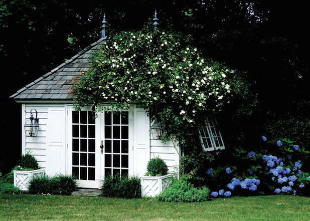 outdoor storage garden shed inspiration from boxwoodavenuecom via veranda by alison carabasi - Garden Sheds With Veranda