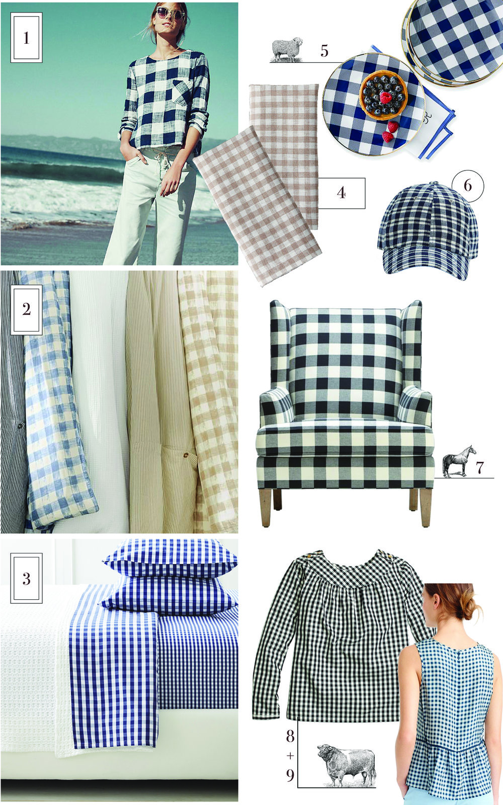 Add gingham to your decor this spring | boxwoodavenue.com