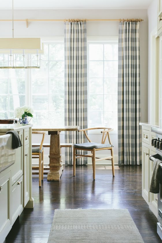 Kate Marker Interiors | gingham curtains