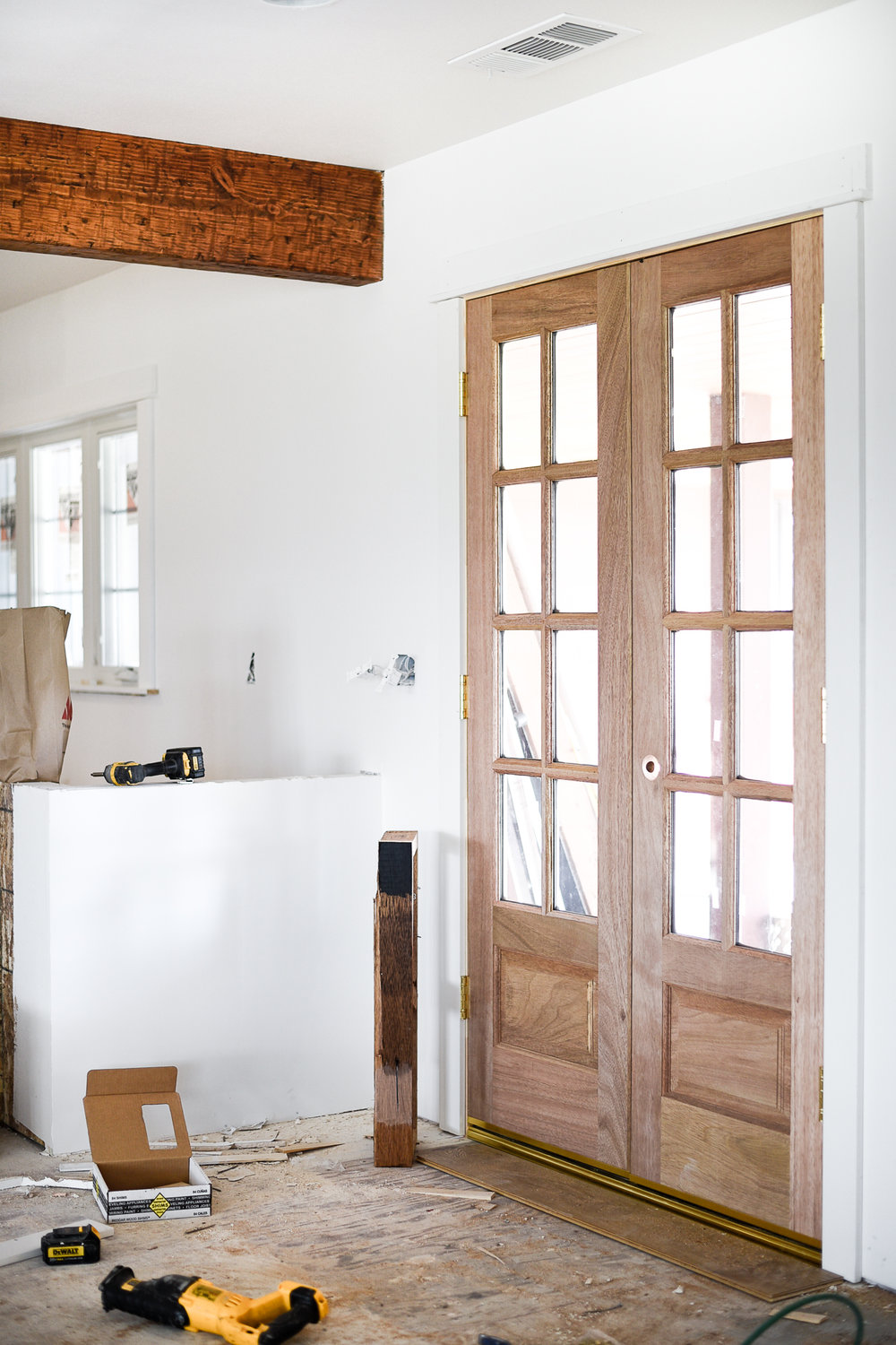 Natural Wood vs. Painted French Doors