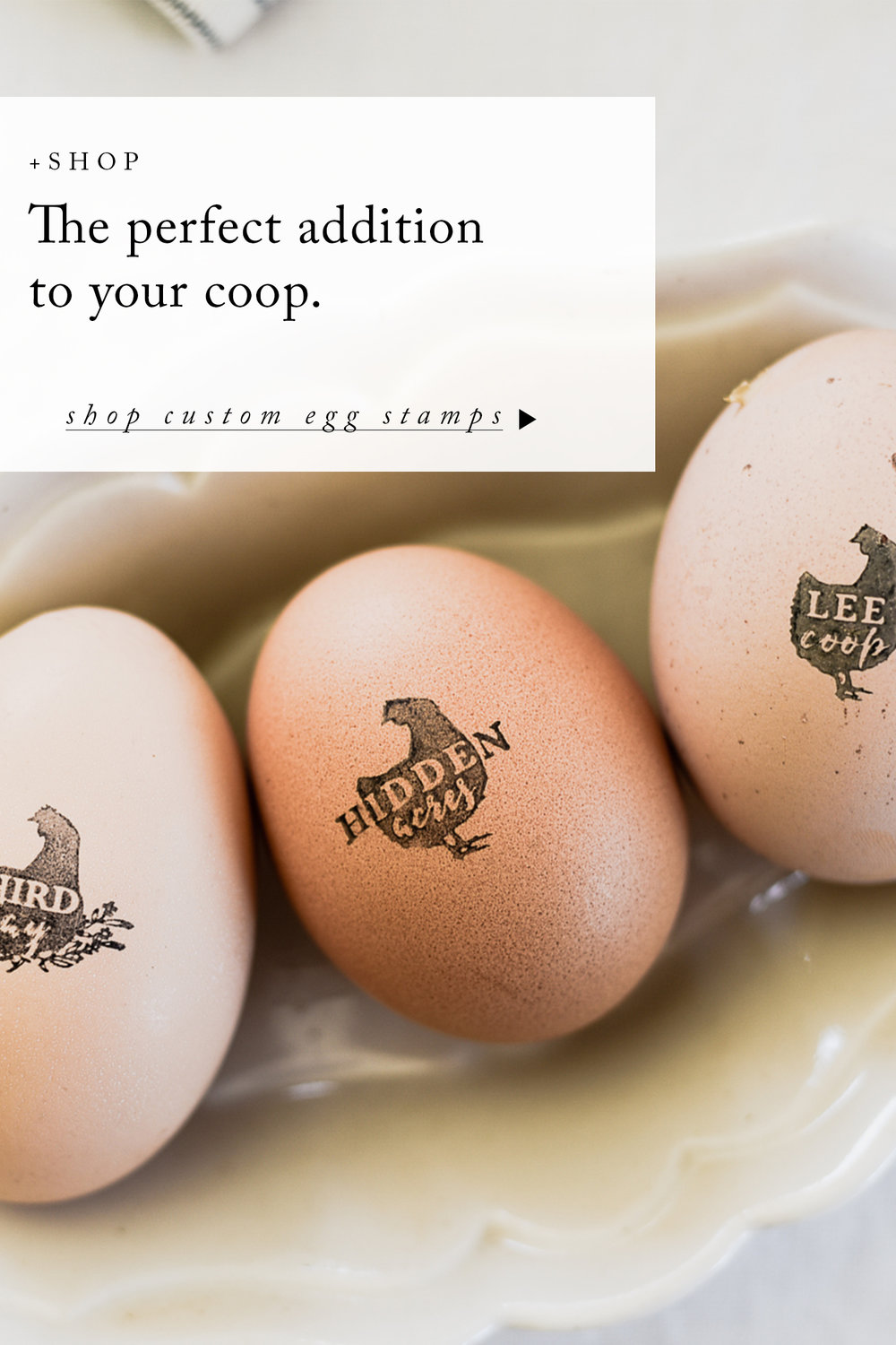Custom Chicken Egg Rubber Stamp