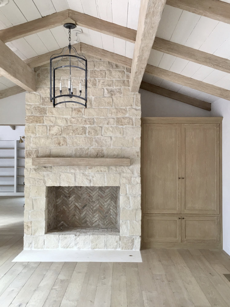 Renovating our Fireplace with Stone Veneers — Boxwood Avenue