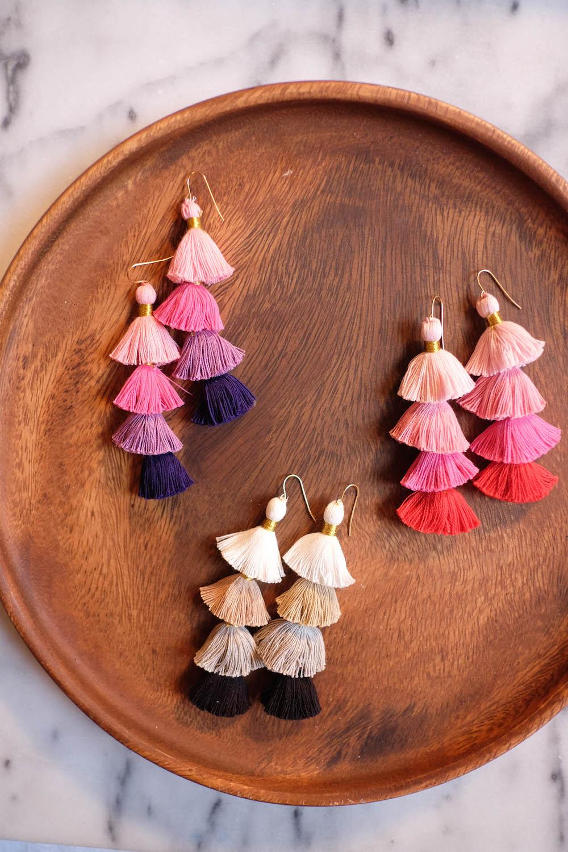 DIY Tassel Earrings from The Stripe