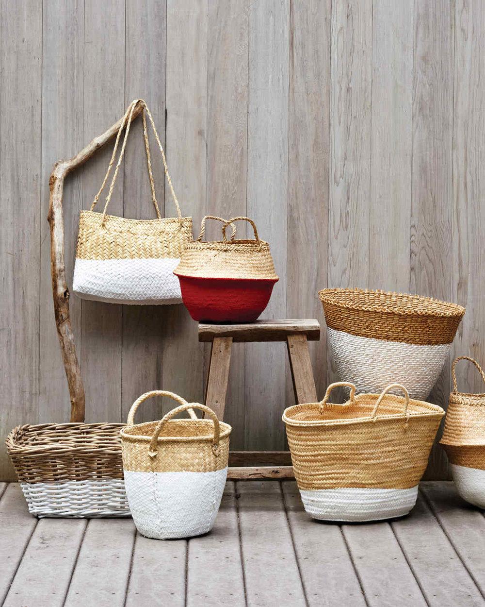 DIY Dip Dye Baskets from MS Living