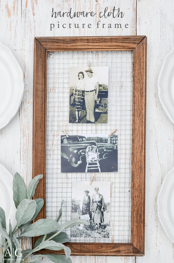 DIY Chicken Wire Frame from Anderson & Grant