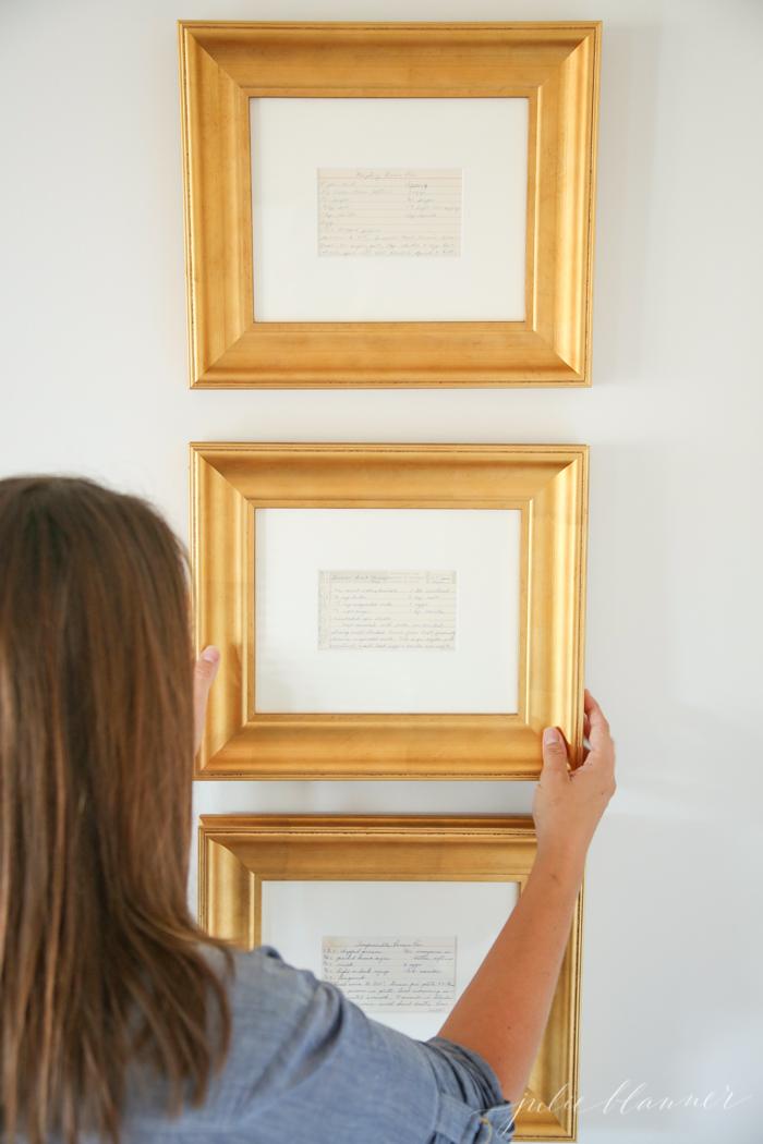 DIY Framed Recipe Card from JulieBlanner.com