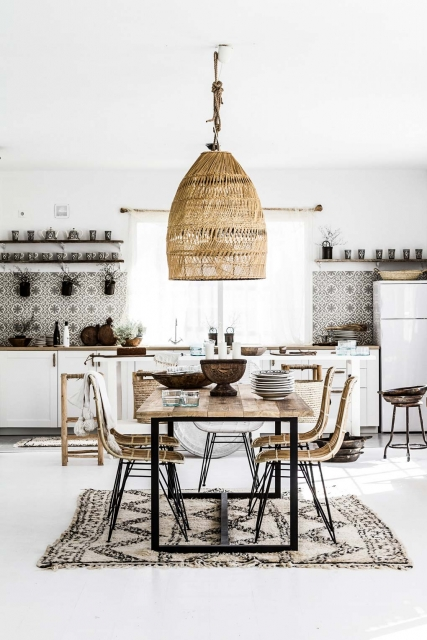 woven accents & eclectic kitchen from ZOCO HOME RIITTA SOURANDER zocohome.com