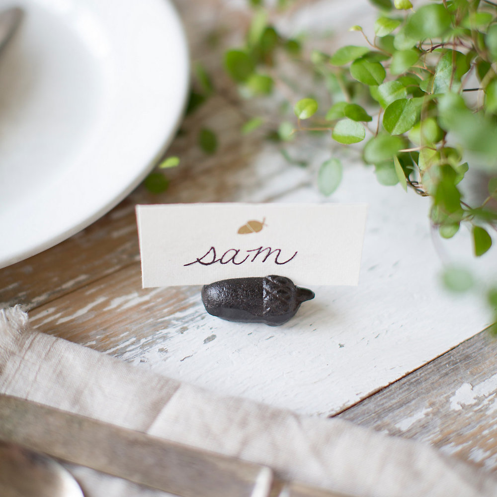 Cast Iron Acorn Place Card Holder.jpeg