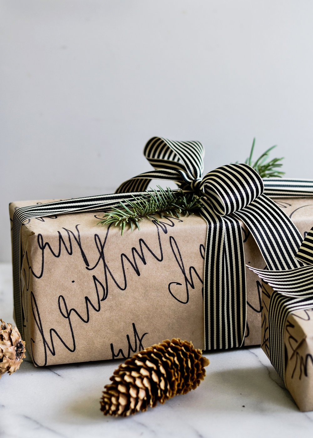 DIY Calligraphy Wrapping Paper from Boxwood Avenue | boxwoodavenue.com