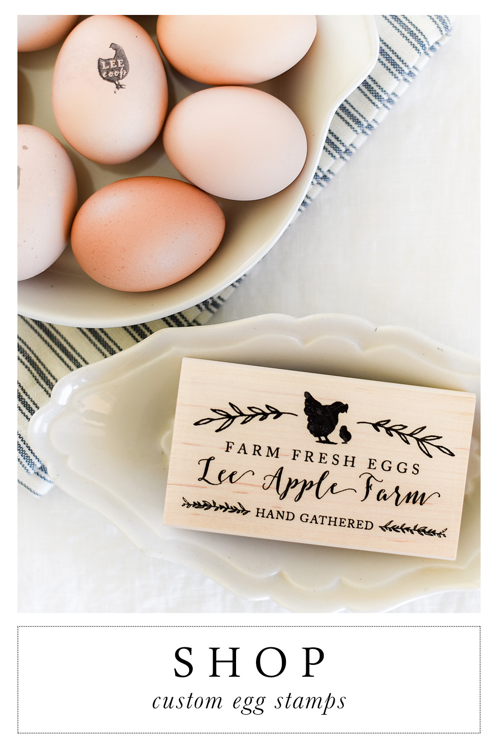 Custom Chicken Egg Stamps Boxwood Avenue