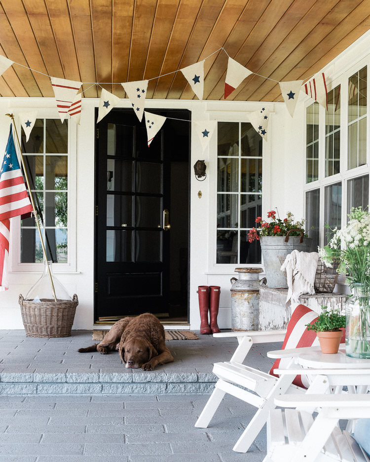 Fourth of July Decorating Ideas for your Porch: DIY Bunting ...
