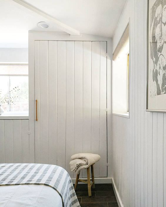 Painted pine paneling in ranch style house renovation from the ranch uncommon.