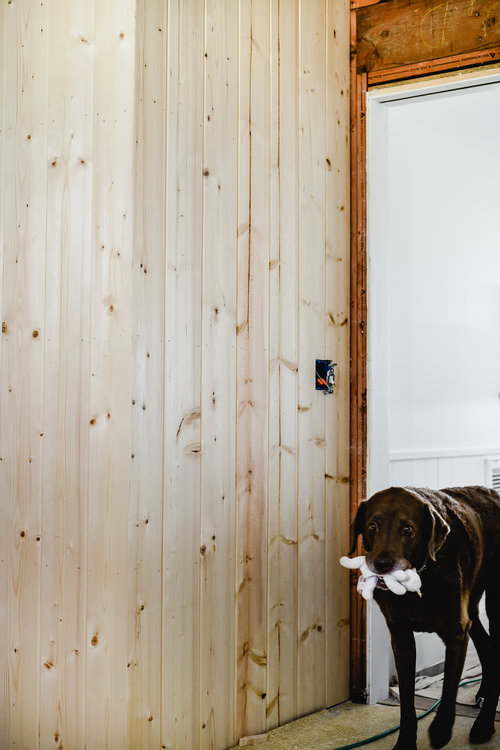 Vertical Pine Tongue and Groove Paneling | boxwoodavenue.com