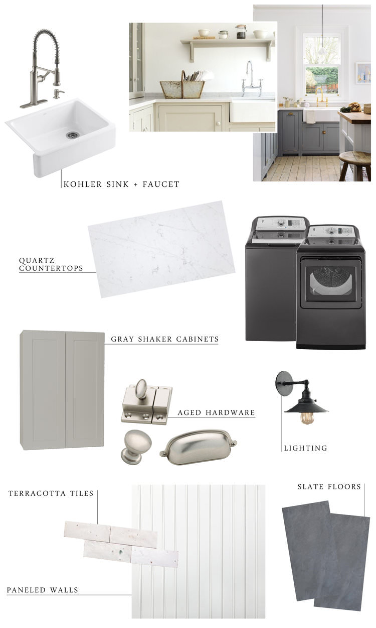 Farmhouse Laundry Room Design Plan from boxwoodavenue.com