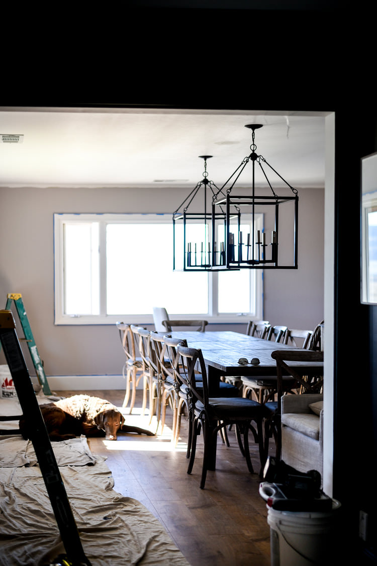 "French Country Inspired Dining Room ""Before"" 