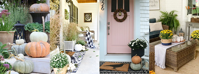 Fall front porch decorating ideas | boxwoodavenue.com