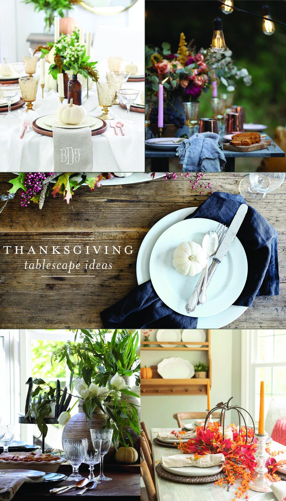 5 gorgeous Thanksgiving tablescape ideas! #thanksgivingdecor #thanksgivingtablescape