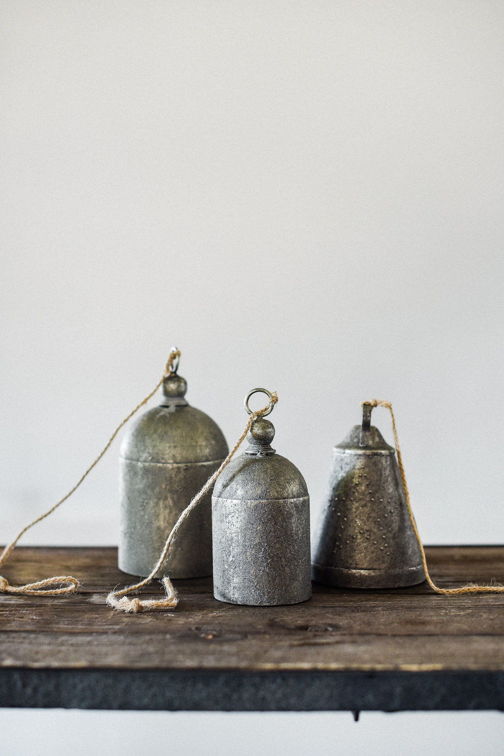 Antique bells for a farmhouse christmas