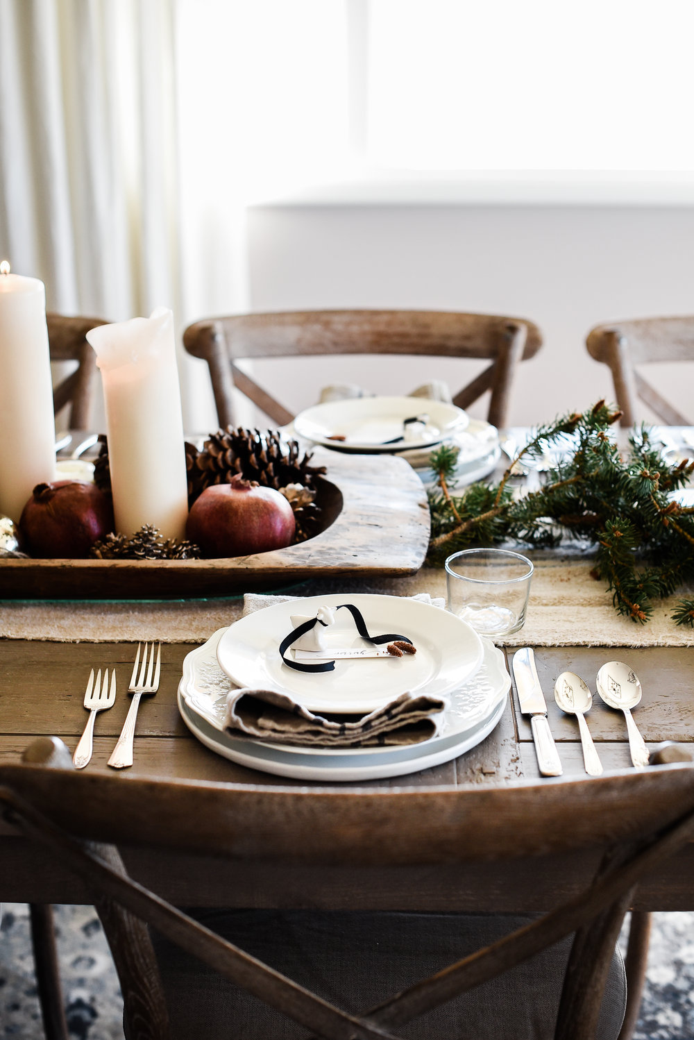 Farmhouse Christmas tablescape with goats!! | boxwoodavenue.com #christmasdecor #farmhousechristmas