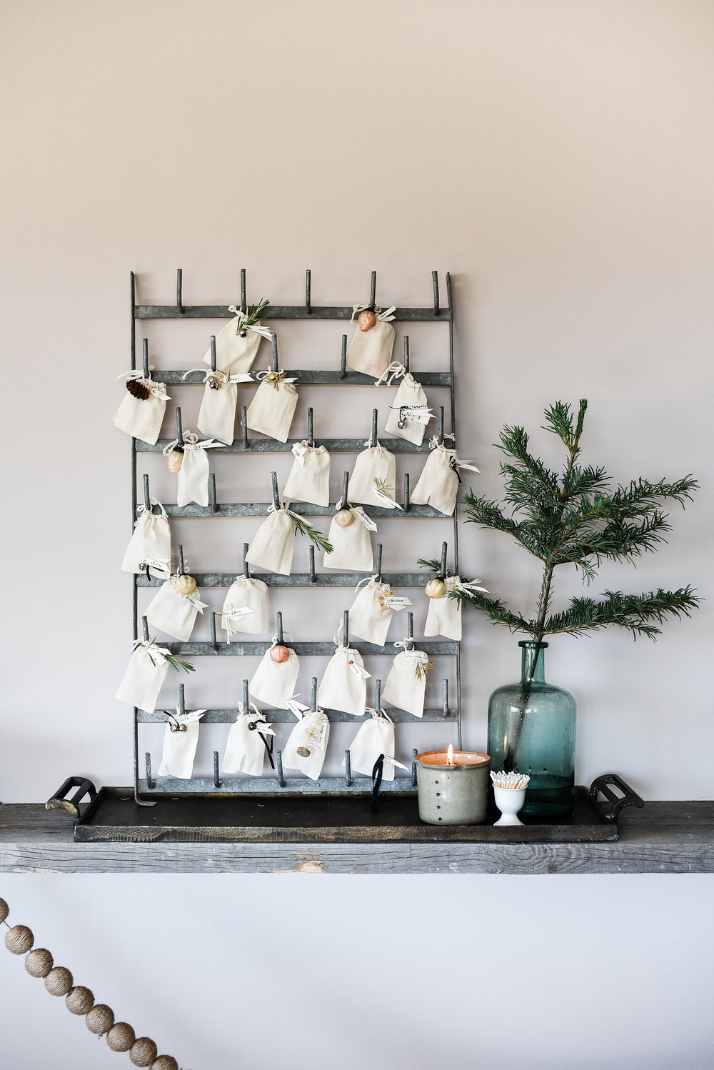 Darling farmhouse advent calendar from boxwoodavenue.com #christmasdecor #farmhousechristmas