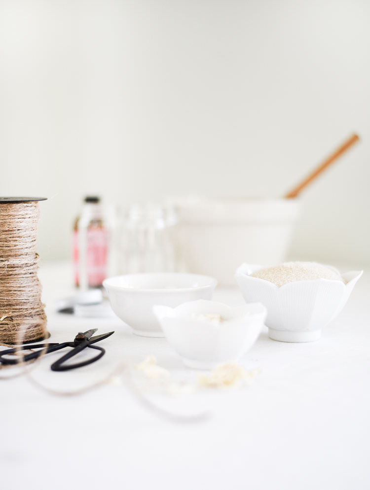 Make a sugar scrub with rose water for an easy DIY Valentine's Day gift. | boxwoodavenue.com