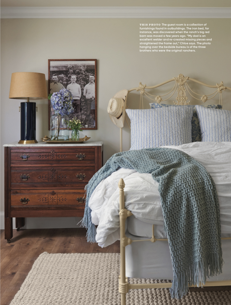 Vintage+cast+iron+bed+with+vintage+wood+chest+of+drawers+in+farmhouse+bedroom+ +#farmhousestyle+#farmhousebedroom copy.jpg