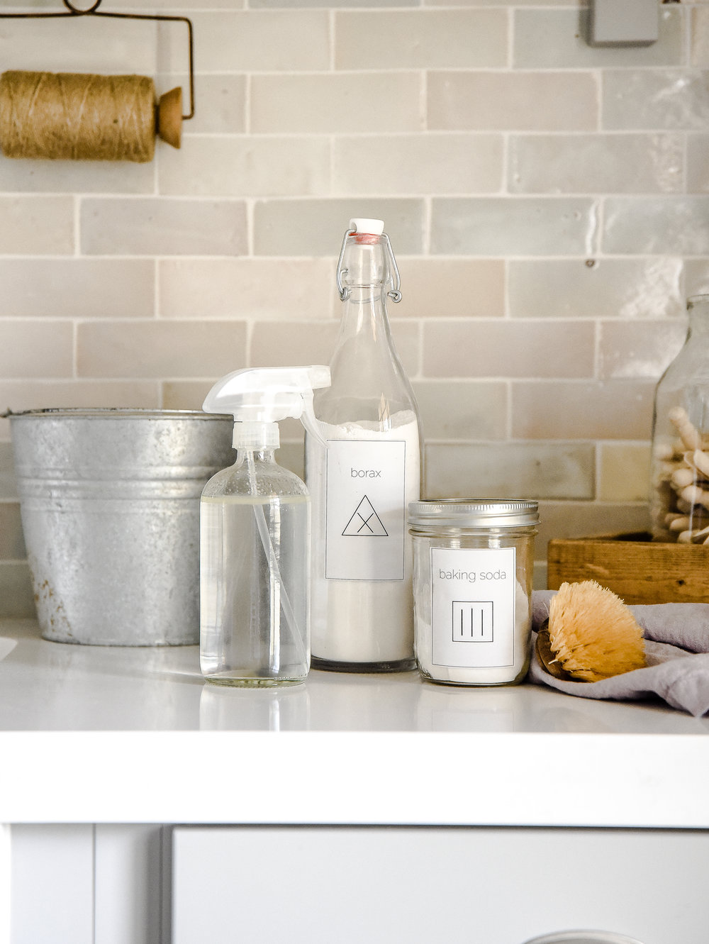 How to green clean your home with these all natural cleaning products! Bio-degradable and safe for your family, your home will sparkle without the use of chemicals! #greencleaning #organiccleaning boxwoodavenue.com