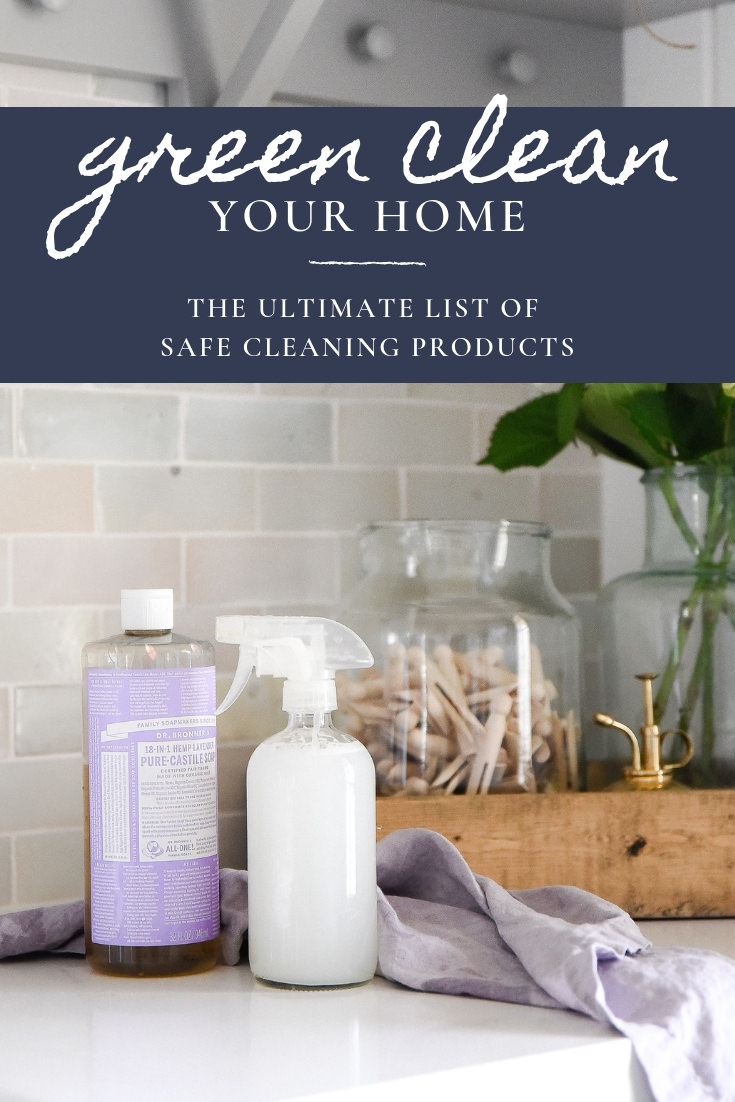 Swap your everyday cleaning products for eco friendly and sustainable options! This is the ultimate list of all natural cleaning products to help you green clean your home! #greenclean #simpleliving #naturalcleaning boxwoodavenue.com