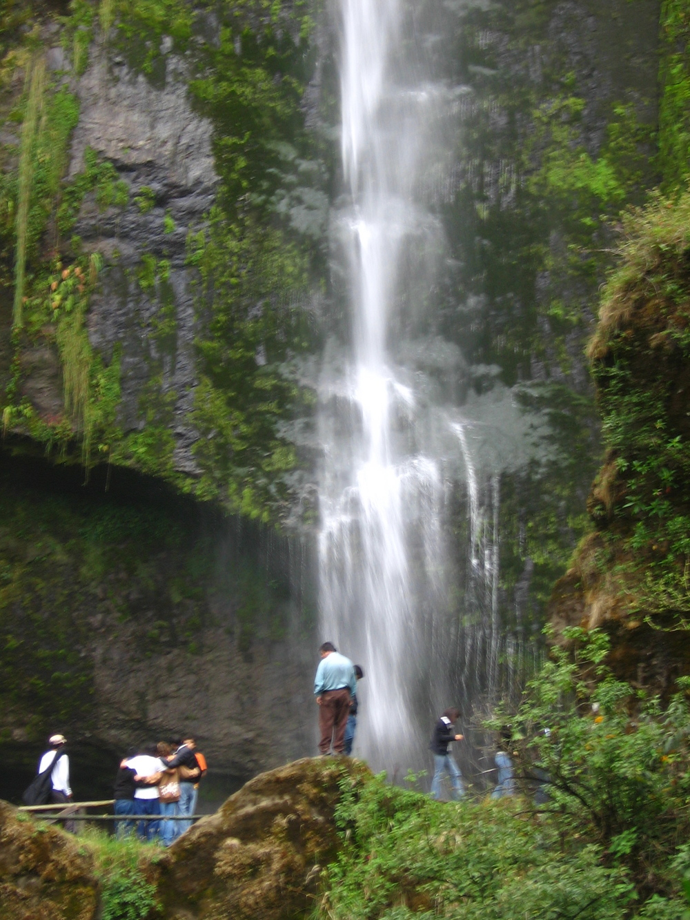 We spread the ashes of our dear friend Pedro Vintimilla who died in a needless bus crash at the base of this waterfall!