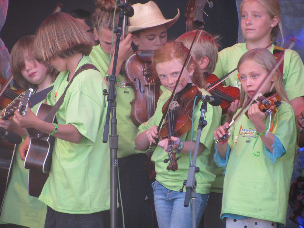 Brisa got to be part of Kids on Bluegrass and play on stage 2 times!