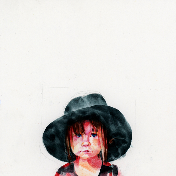 Little Girl with Large Hat