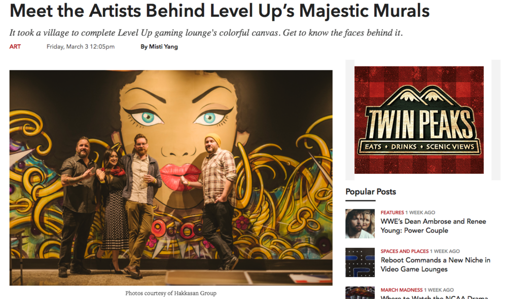 Meet the Artists Behind Level Up's Majestic Murals - Vegas SEVEN, March 9, 2017