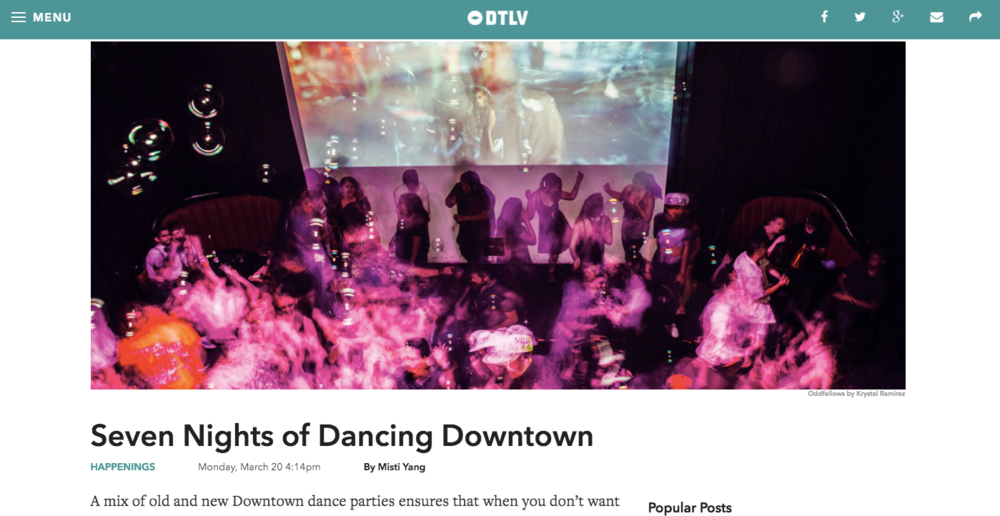 Seven Nights of Dancing Downtown - DTLV.com, March 20, 2017