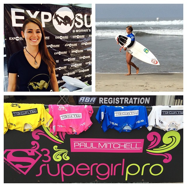 Hey! Cruise on down to #Oceanside pier and check out the @paulmitchellus @supergirlpro and @exposureskate and skate ramp this weekend!