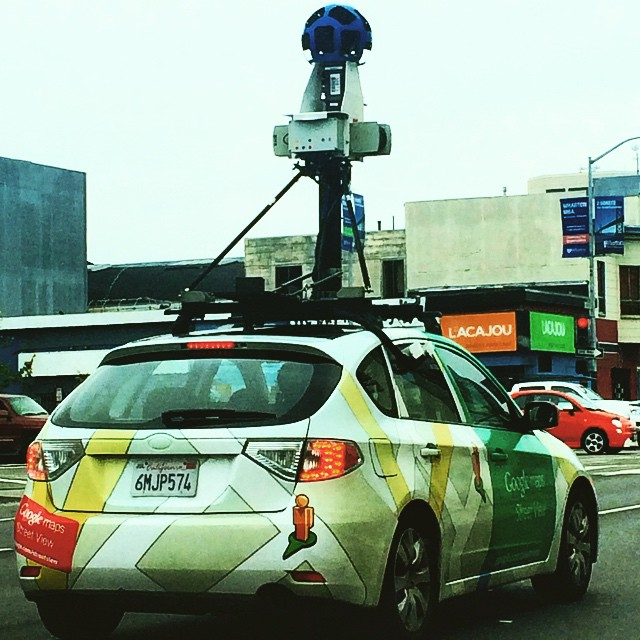 We see YOU ! #googlemapcar #google #tacoinhandphoto #cheese