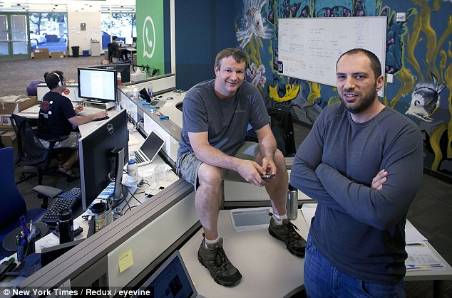 Jan Koum (right), founder and CEO of Whatsapp