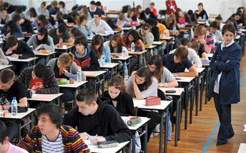 Poor French high schoolers being tormented by the notorious 4-hour Philosophy test in BAC