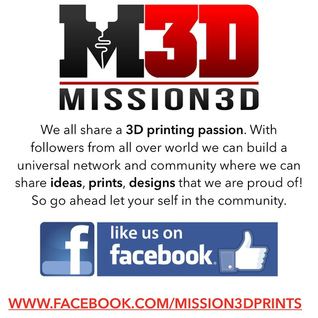 #Https://Facebook.com/Mission3DPrints HTTPS://www.Facebook.com/Mission3DPrints